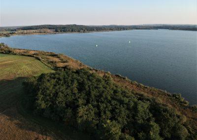 Der Fahrlander See von oben